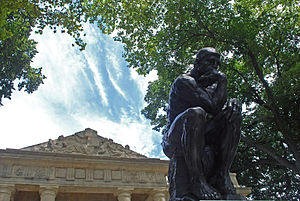 "English: ""The Thinker,"" by Rodin, in..."