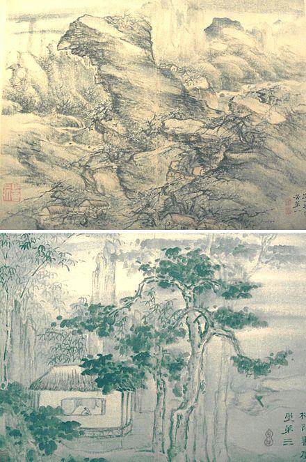 Traditionelle Chinesische Malerei Fruhling Pflaumenblute Auf Alten
