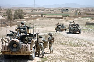 SANGIN, Afghanistan - American and British sol...