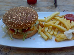 English: Veggie burger