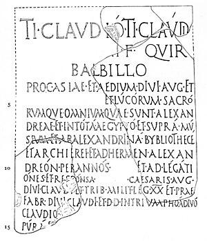 This Latin inscription regarding Tiberius Clau...