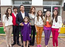 Peña Nieto with family in Atlacomulco on the 2012 election day.