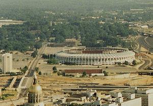 Georgia State Capital Dome and the former Atla...