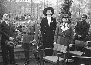 Ernst Sagebiel, Göring, Erhard Milch, (1935)
