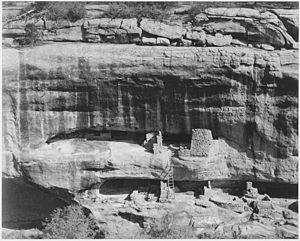 """Cliff dwellings, """"Mesa Verde National Par..."""