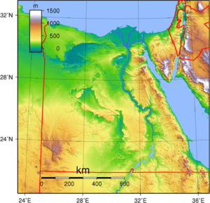 Topographic map of Egypt. Created with GMT fro...