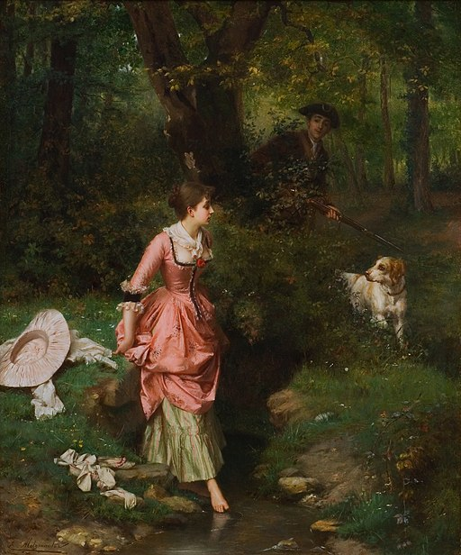 Emile-Pierre Metzmacher - Crossing a Brook