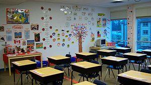 English: Fraser Valley Elementary School classroom