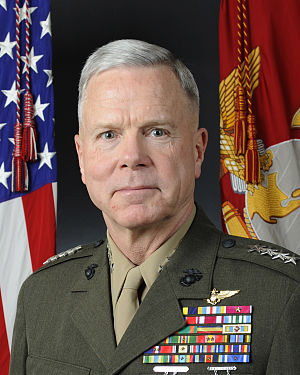 English: General James F. Amos, USMC 35th Comm...