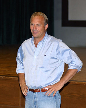 English: Actor and director Kevin Costner whil...