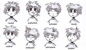 Manga emotions
