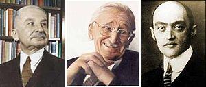 Ludwig von Mises, Friedrich von Hayek, and Jos...