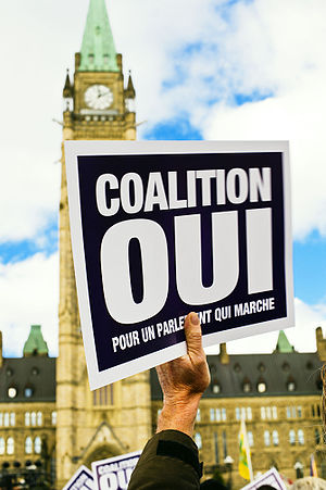 Noontime protest on Parliament Hill in support...