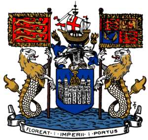 Coat of arms of the Port of London Authority. ...