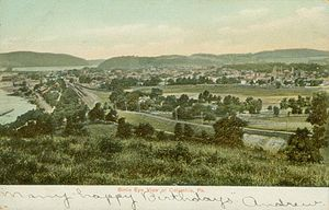 "Postcard picture of ""bird's eye view""..."