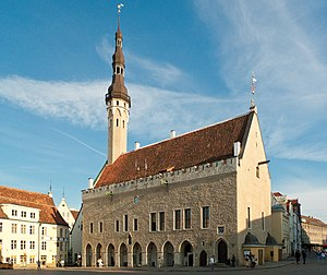 The Town hall of Tallinn, Estonia. Eesti: Tall...