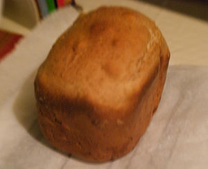 Baked loaf from Bread Machine