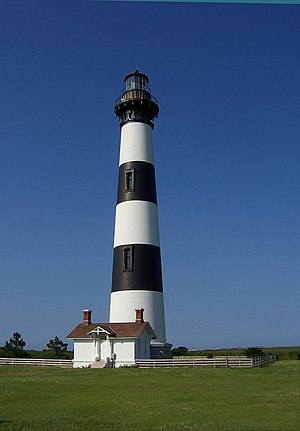Bodie Island Lighthouse, built in 1871, is on ...