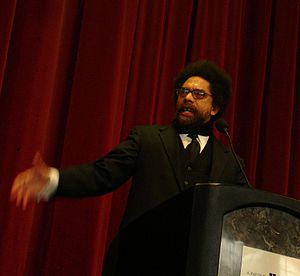 Cornel West, keynote speaker at the Martin Lut...