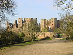 Kenilworth Castle, whence besieged followers o...