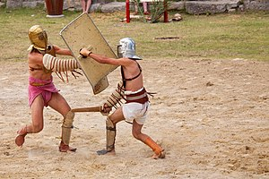 "Show fight of the ""familia gladiatoria pu..."