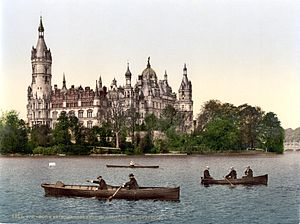 Schwerin Castle, south-eastern aspect