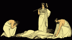 The assassination of Agamemnon, an illustratio...