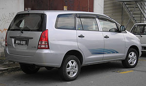 The rear of a first generation Toyota Innova, ...