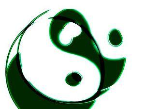 yin yang futurist style