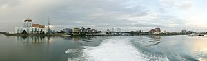 Panoramic view of Batam Center Harbour (taken ...