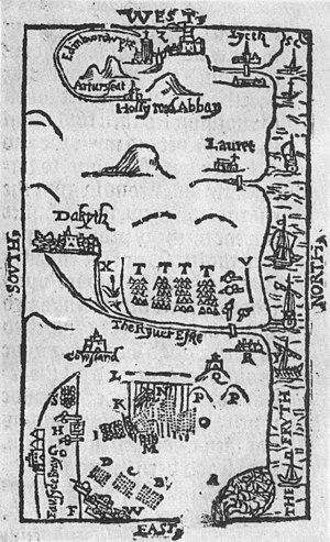 English: Battle of Pinkie sketch, 1547