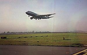 BA 747. Taken from the jump seat of an ATR72 d...