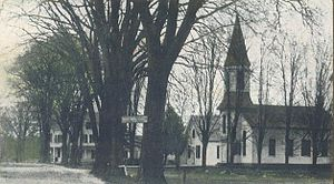English: Center Ossipee, NH in 1909; from an o...