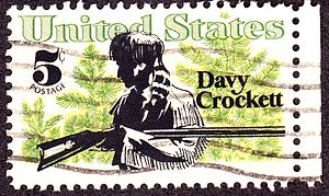 English: Davy Crockett 1967 Issue, 5c
