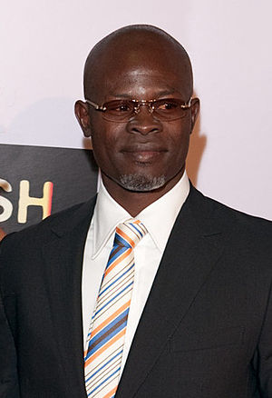 Beninese actor Djimon Hounsou arrive at the pr...