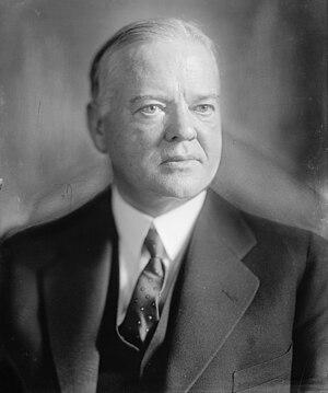English: Herbert C. Hoover.