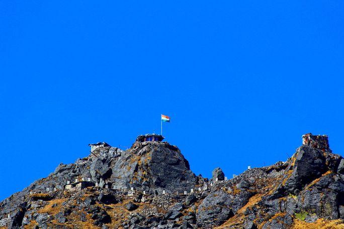 India-china border and nathula peak