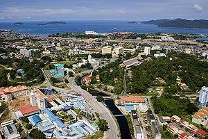 Aerial View from Penampang Suburbs facing the ...