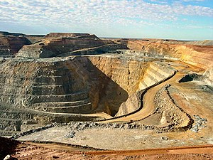 Super Pit gold mine at Kalgoorlie in Western A...