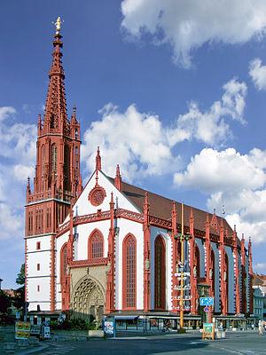 Marienkapelle auf dem Marktplatz in Würzburg.