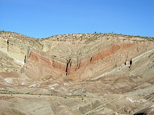 Rainbow Basin Syncline near Barstow, California.