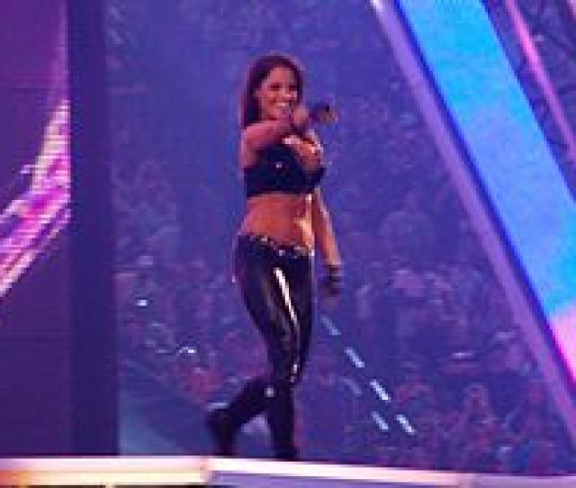 Trish Making Her Entrance At Wrestlemania Xxvii In April