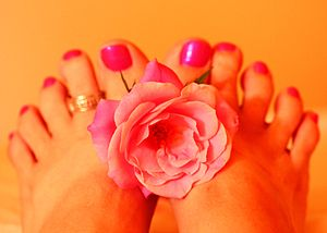 unedited My new pedicure free for use My photo...