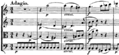 English: sheet music