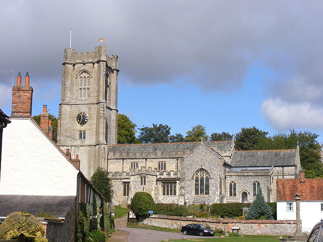 St Michael's parish church, Aldbourne, Wiltshire, seen from the south