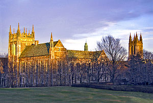 Colleges and churches were often copied from E...