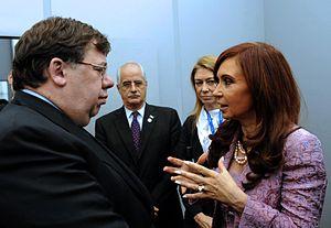 Argentine President Cristina Fernandez with Ir...