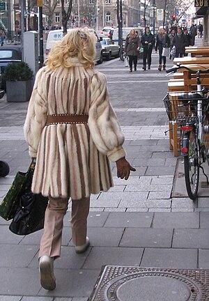 Browncross mink fur coat