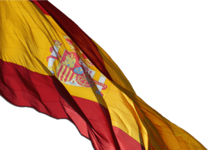 A Close up of the Spanish Flag, Madrid. For th...