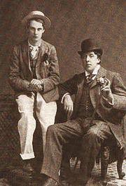 Lord Alfred Douglas y el escritor Oscar Wilde